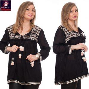 Bluza Etno   Bluza neagra cu imprimeu Etno   Eliza   Ie Pe Marie Magazin