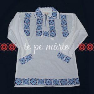 Camasa traditionala barbateasca | Camasa traditionala cu motive albastre | Camasa maneca lunga Ovidiu